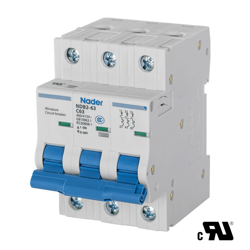 Nader UL 1077 Circuit Breakers and Circuit Protection DIN Rail Components