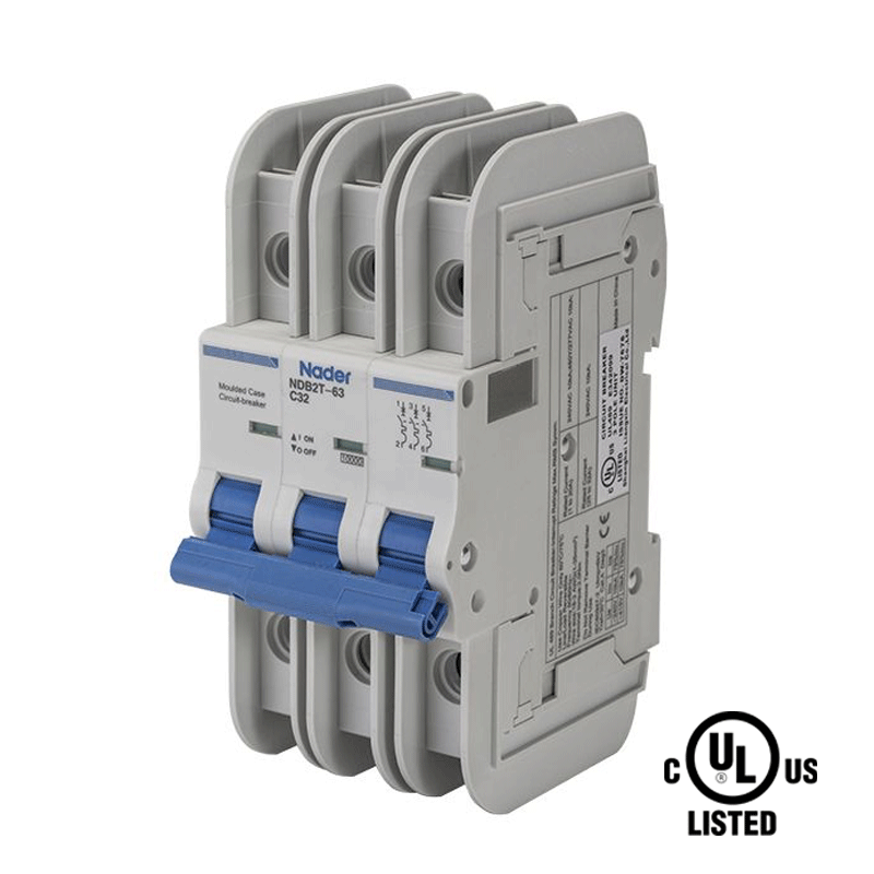 Nader UL 489 Circuit Breakers and Circuit Protection DIN Rail Components