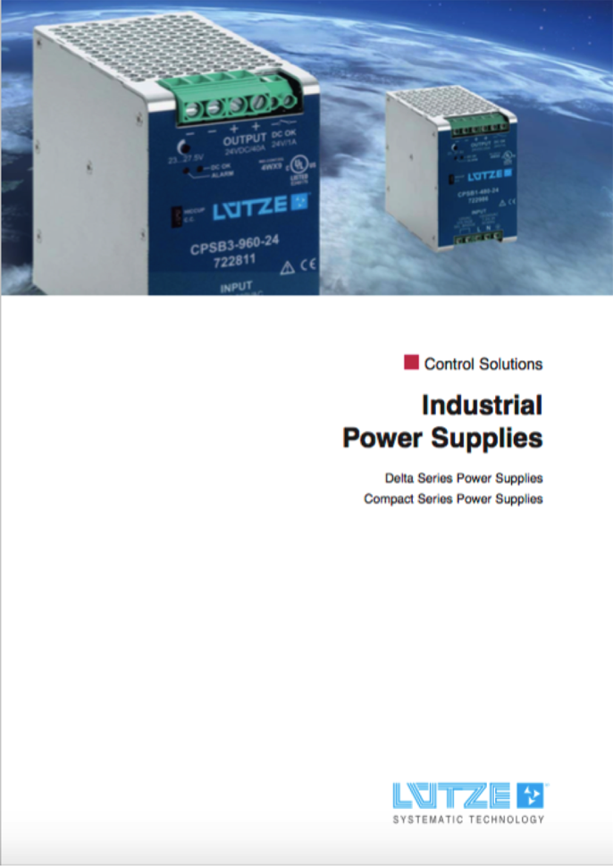 Southwest Energy LutzeLutze DIN Rail Components Power Supplies catalogue