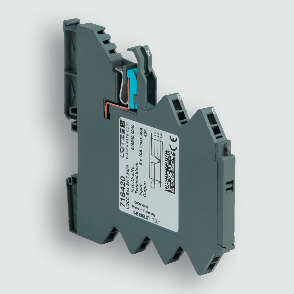 Southwest Energy Lutze DIN Rail Components LOCC Box Circuit Protection